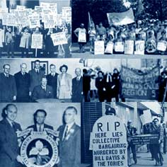 History of OPSEU: Collage