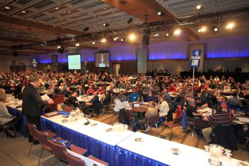 Large crowd at OPSEU's 2014 convention