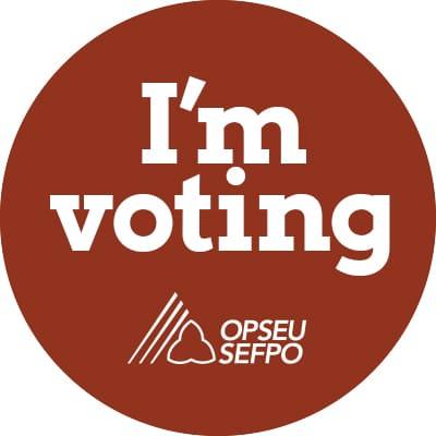 I'm voting sticker