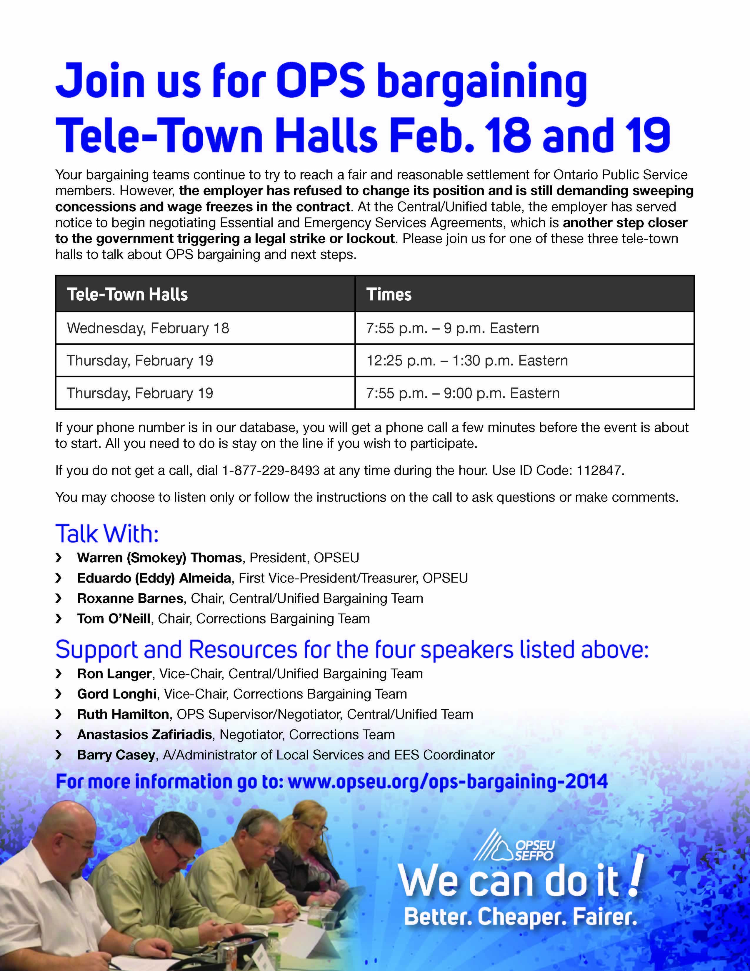Join us for OPS bargaining tele-town halls feb. 18 & 19.