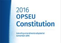 2016 OPSEU Constitution