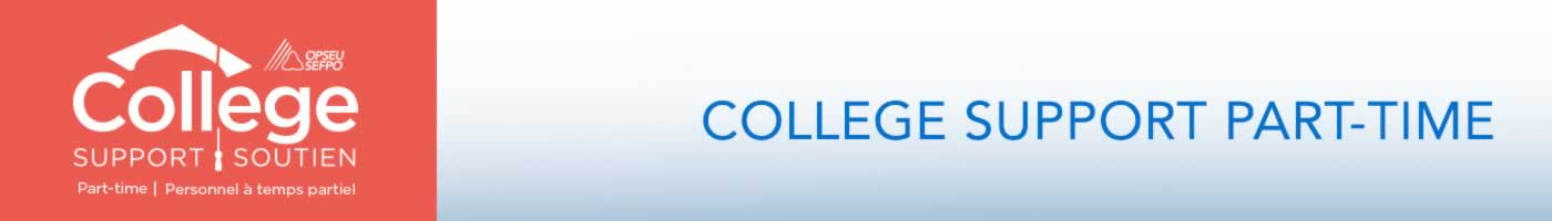 College Support/Soutien. College Support Part-time.