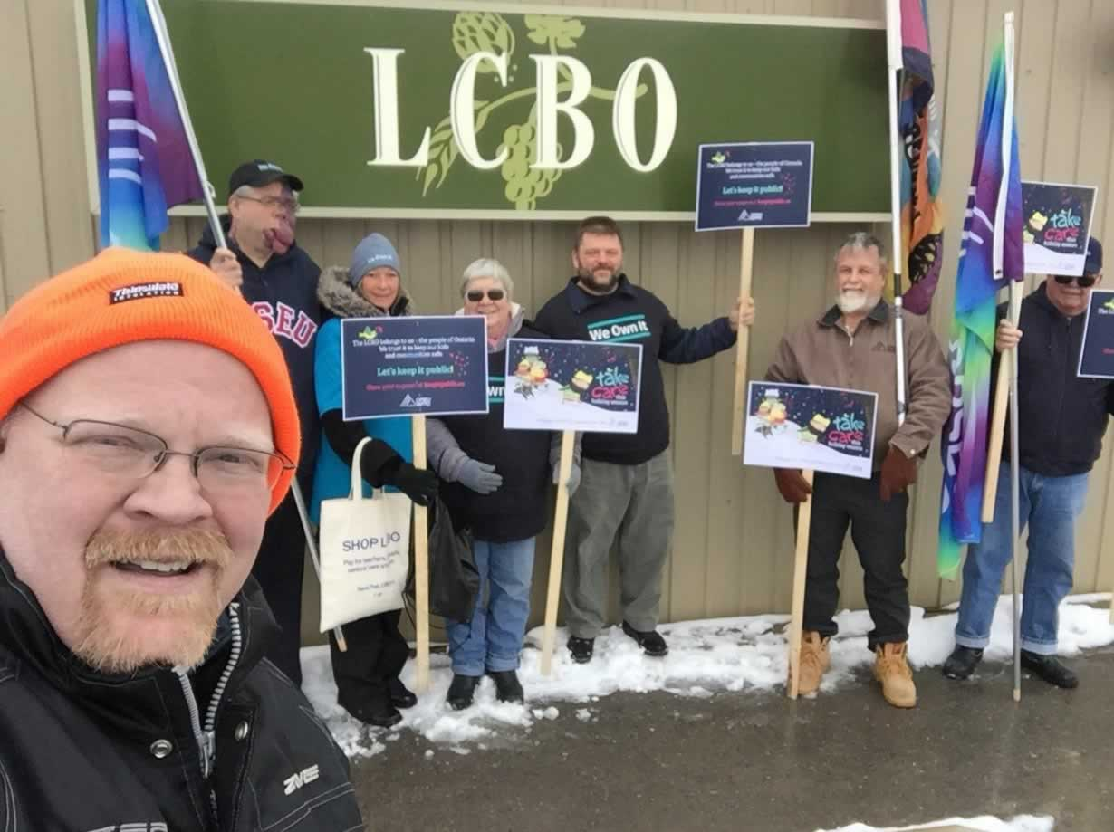 LCBO workers protest