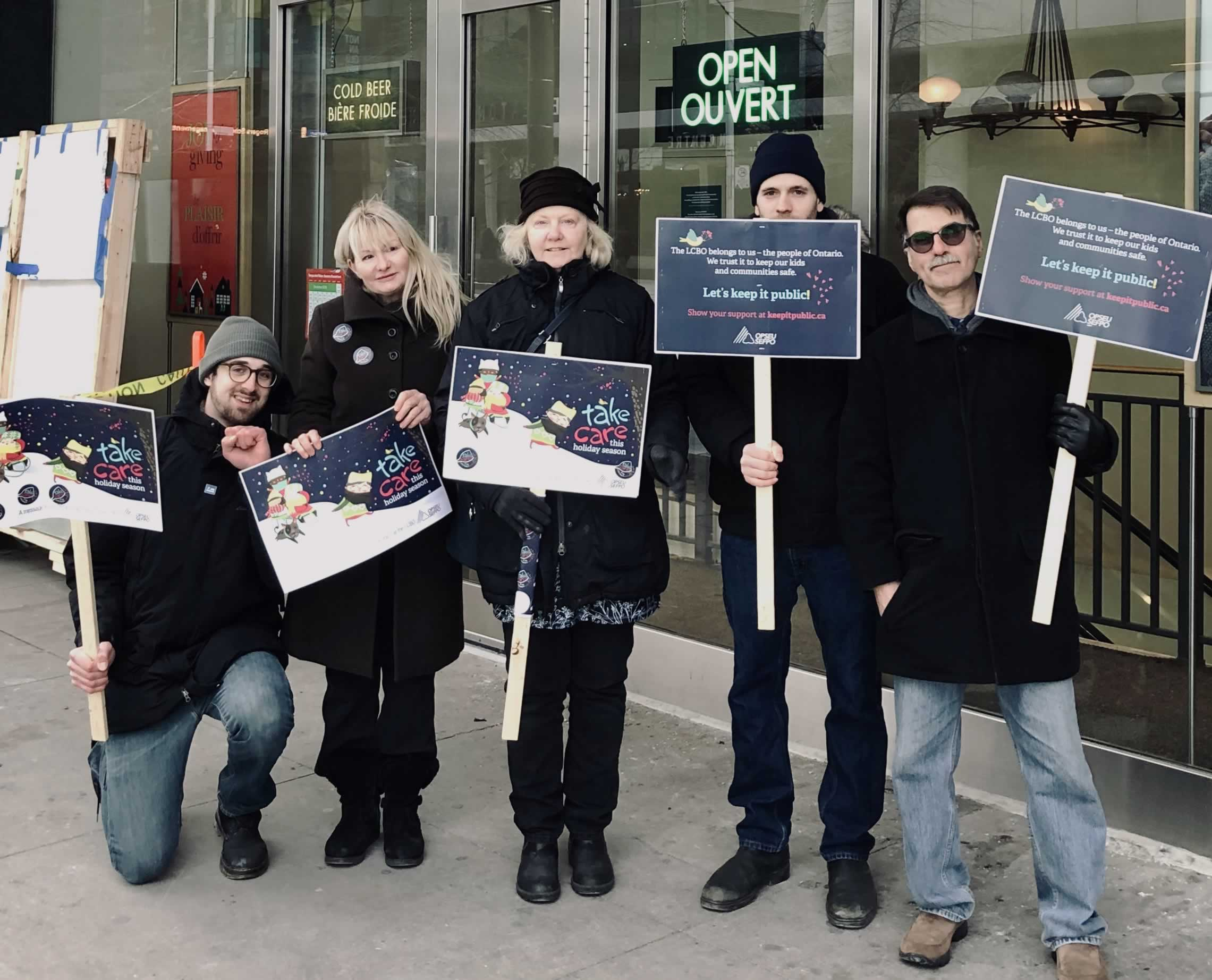 LCBO workers protest in Toronto