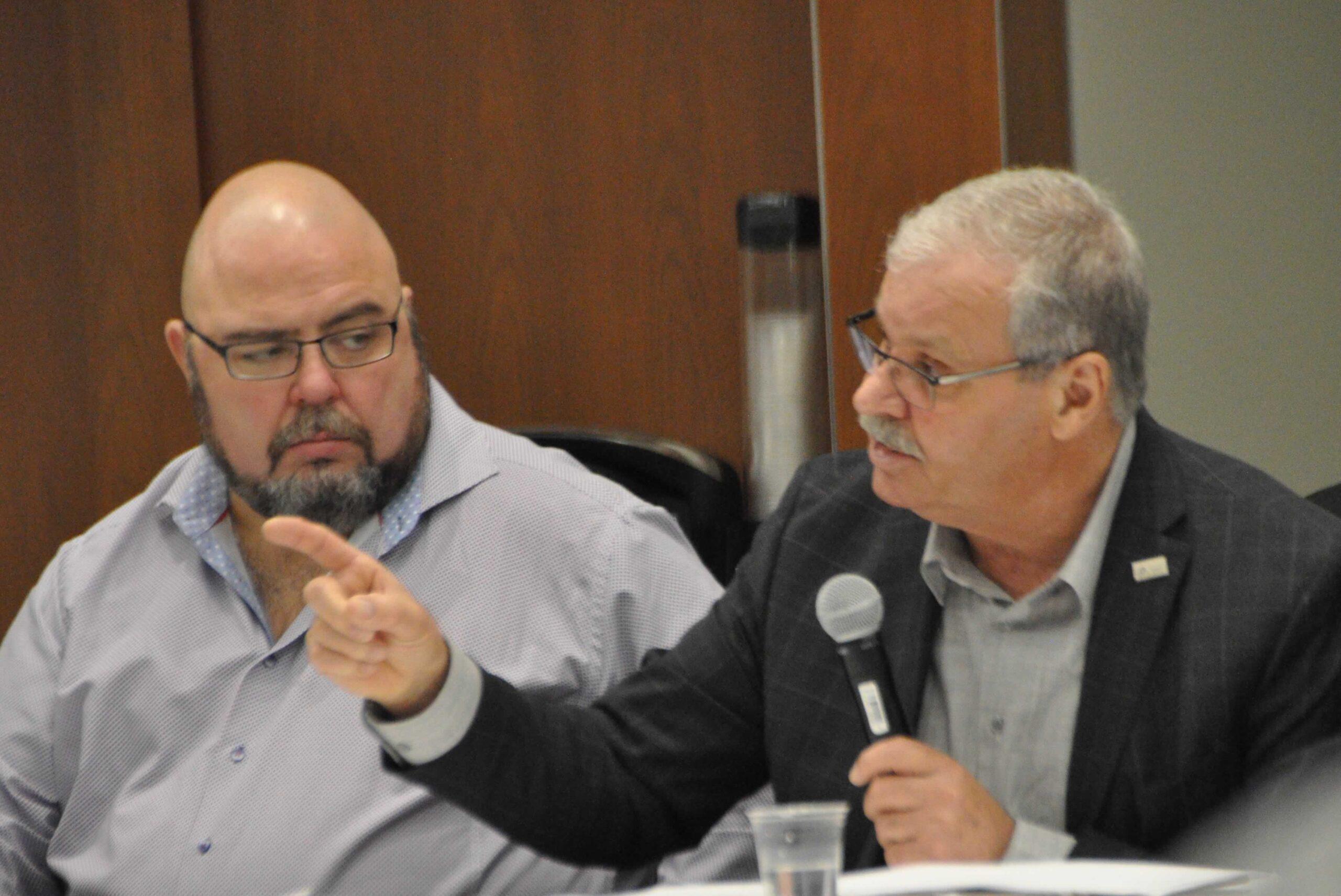 OPSEU President Warren (Smokey) Thomas & Eddy Almeida