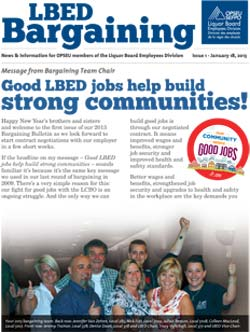 LBED Bargaining Bulletin, Issue 1