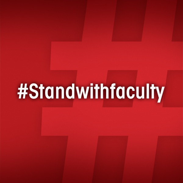 #StandWithFaculty