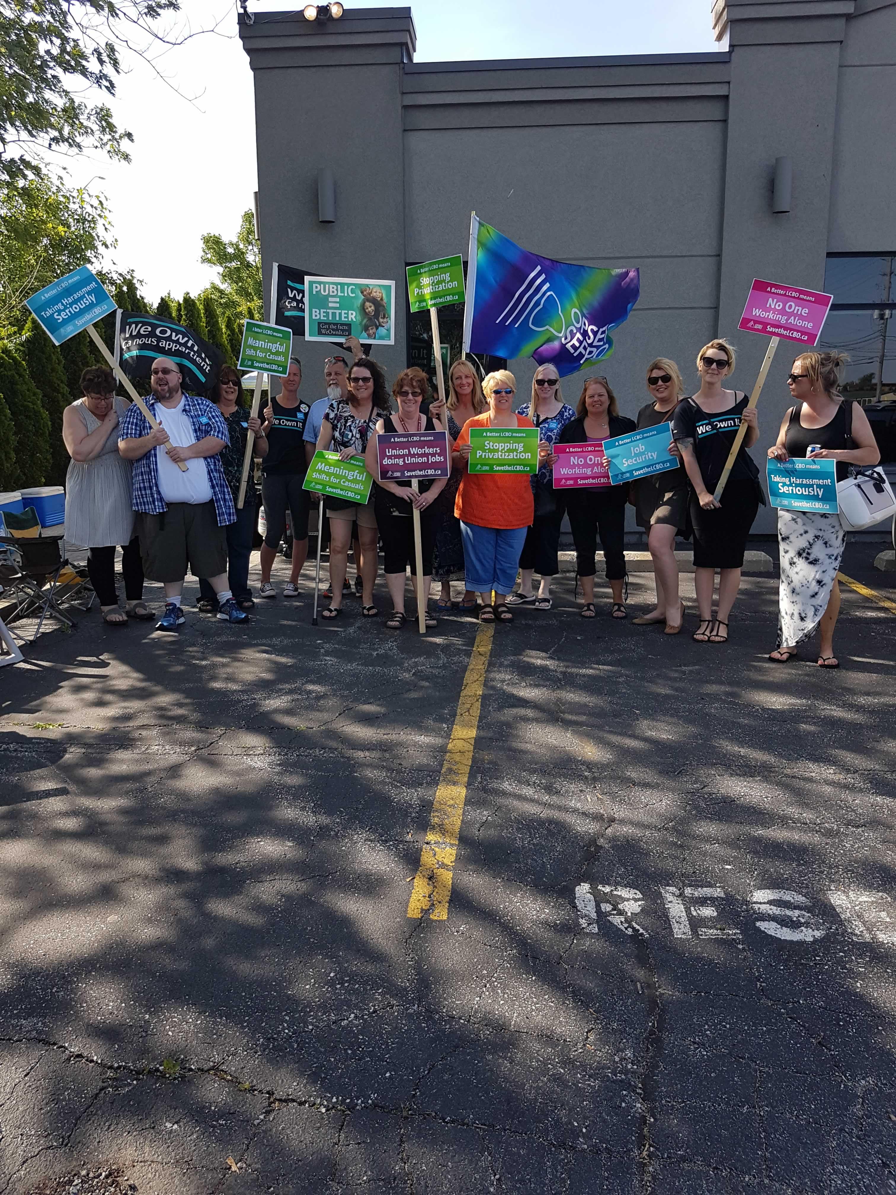 LCBO picket group in Windsor