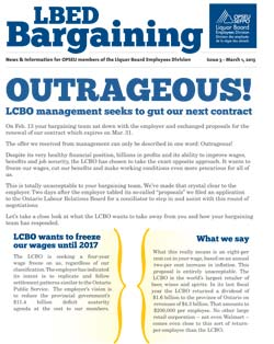 LBED Bargaining Bulletin Issue 3