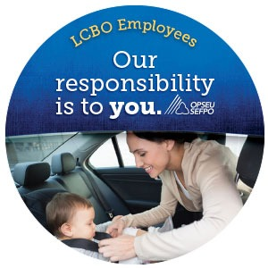 LCBO employees Our responsibility is to you button