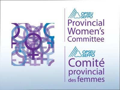 OPSEU Provincial Women's Committee - SEFPO Comite provincial des femmes logo