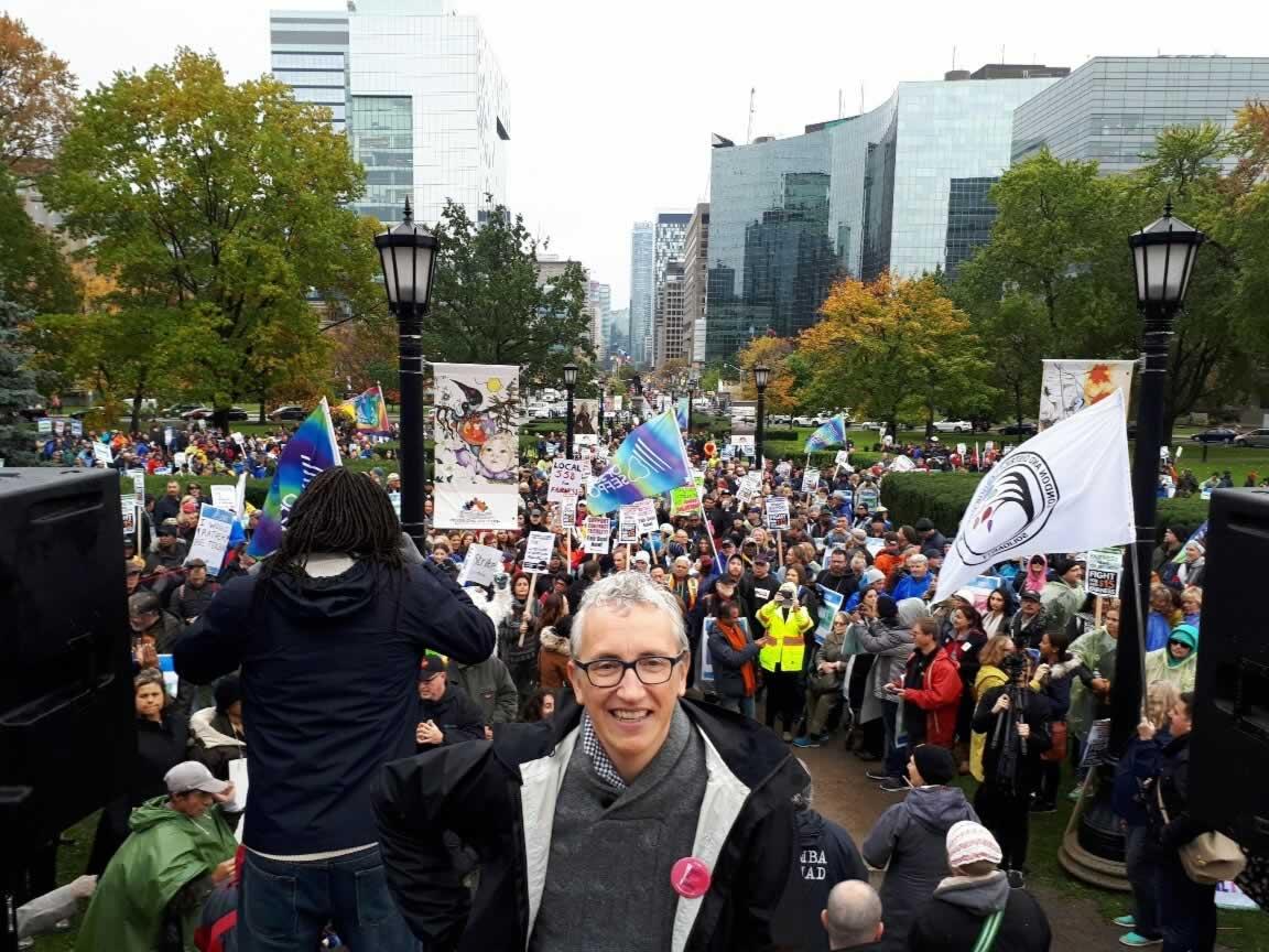 #Rally4Faculty at Queen's Park, November 2
