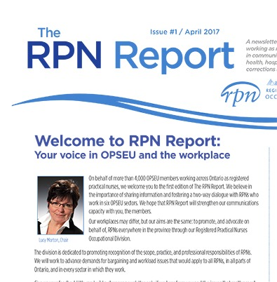 RPN Report, Issue 1, April 2017.