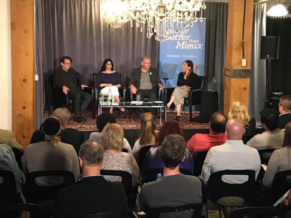 OPSEU's TalkON panelists speak during the interactive town hall