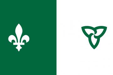 Franco Ontario flag (Quebec and Ontario logos)