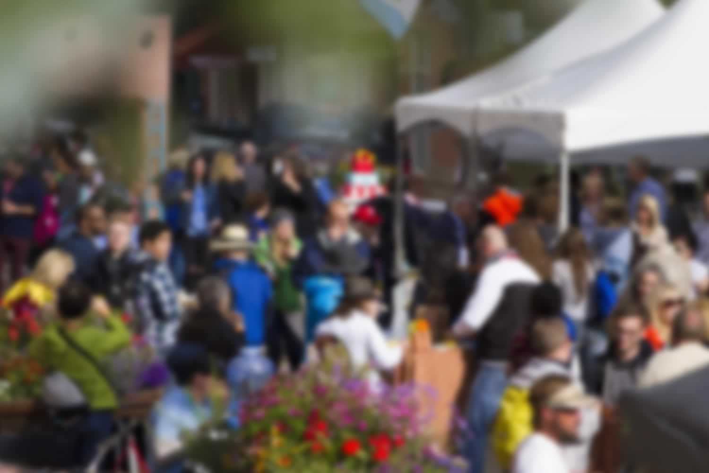 Blurred crowd photo