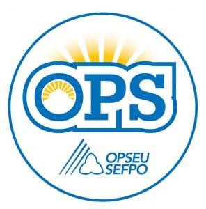 English round OPS logo