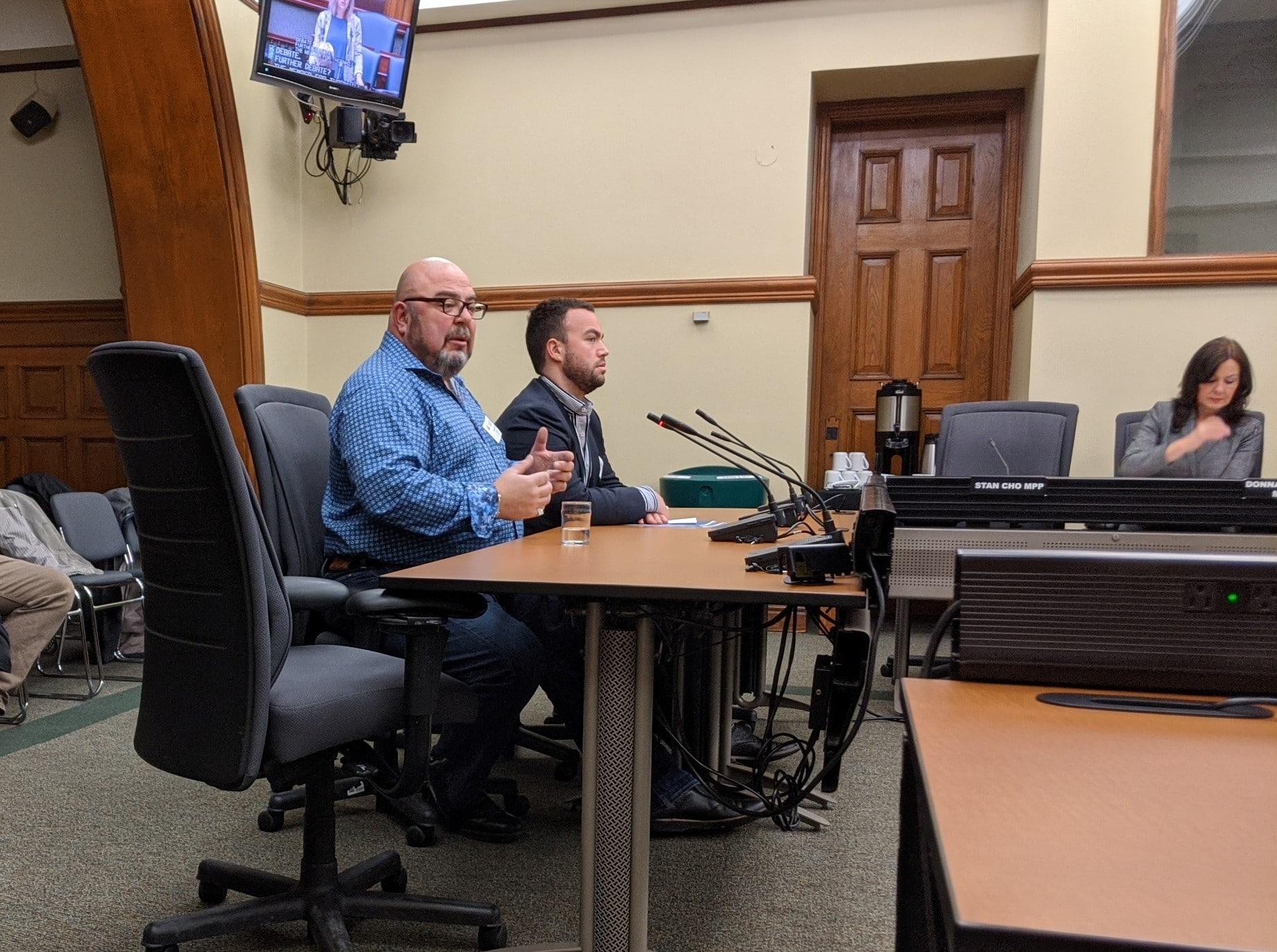 Eduardo (Eddy) Almeida at Bill 134 hearing