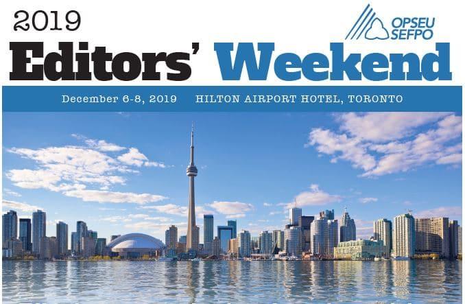 2019 Editors Weekend. Toronto skyline.