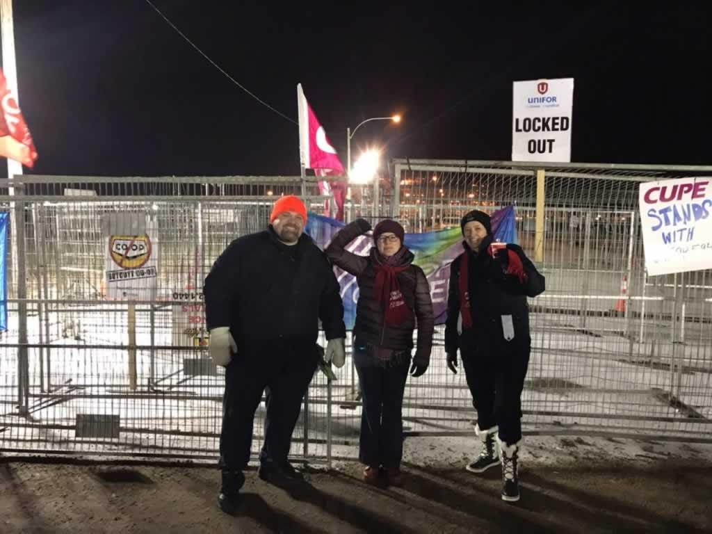 Ed Arvelin in Saskatchewant UNIFOR rally