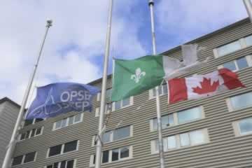 Flags at OPSEU half mast