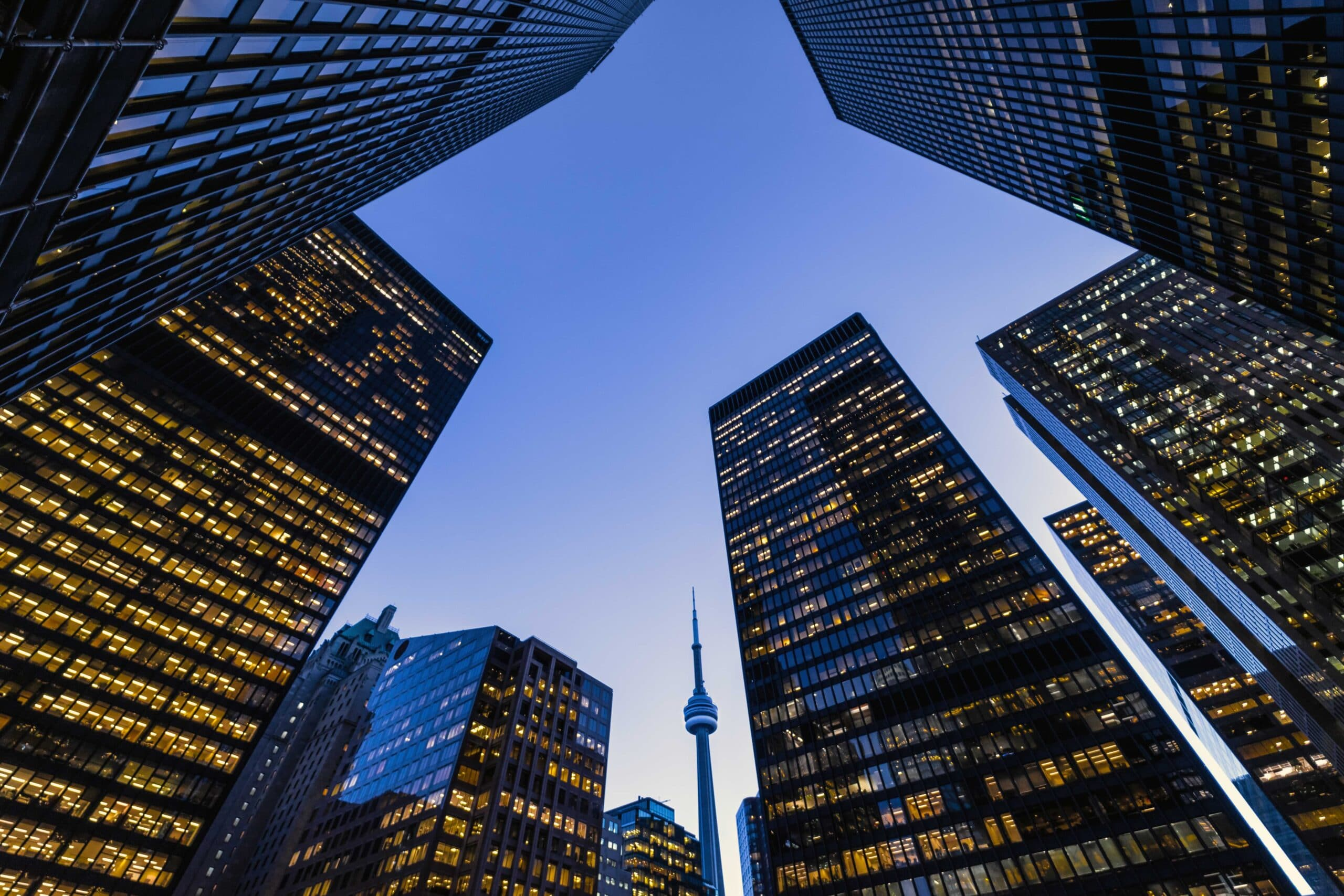 Downtown Toronto financial district skyline