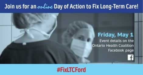 Long Term Care Day of Action One day of action, Friday, May 1