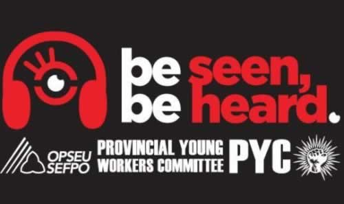 """PYC logo with stylised headphones and message: """"Be seen. Be heard."""""""