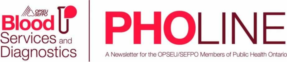 PHO web banner: Blood Services and Diagnostics.