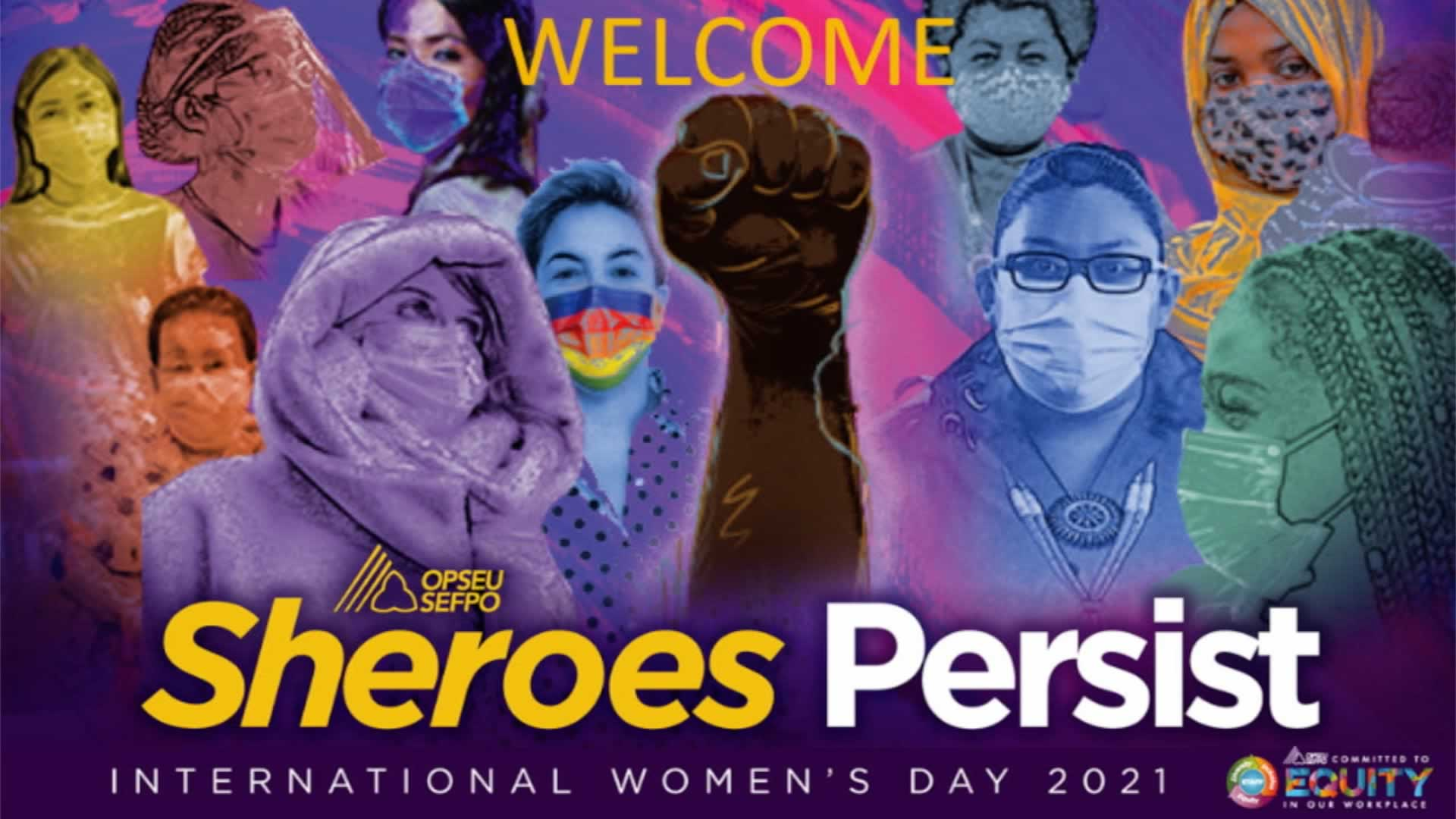 Sheroes Persist. International Women's Day Collage