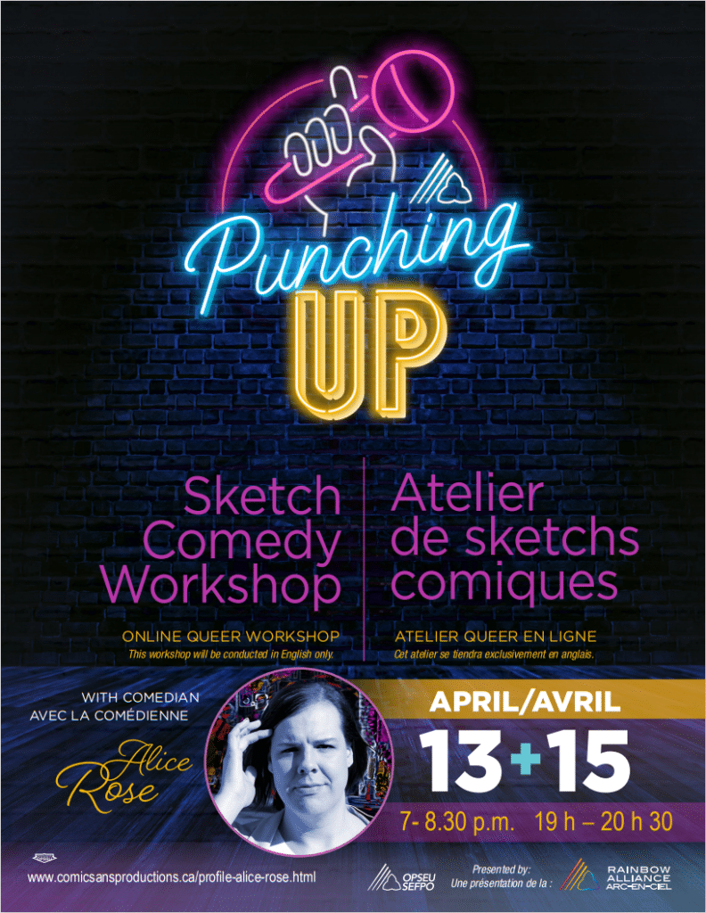 Punching Up, a sketch comedy workshop with comedian Alice Rose