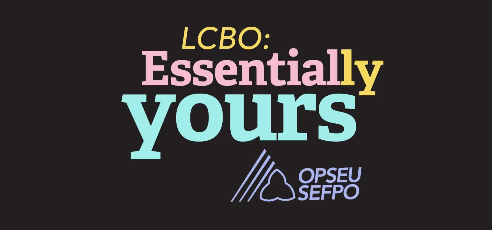 LCBO: Essentially Yours Logo in Pastel Colours