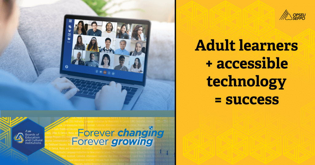Adult learners + accessible technology = success