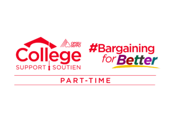 Part-Time College Support Logo. Bargaining for Better