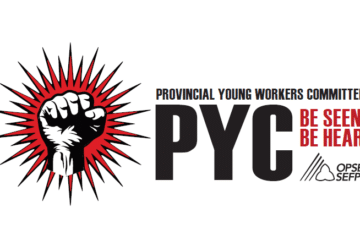 Provincial Young Workers Committee (PYC) logo . Be seen, be heard